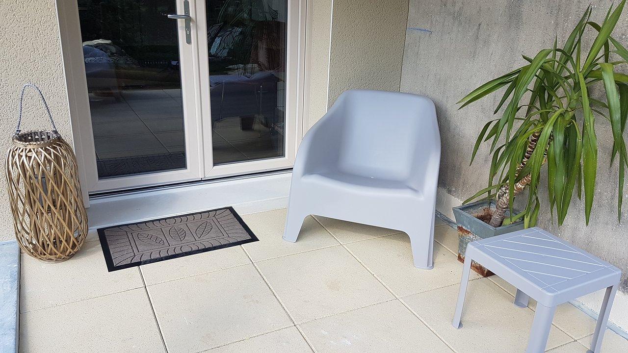 Chambre Bleu : terrasse privative